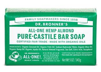 Dr Bronner's Almond Pure Castile Soap Bar  - Click to view a larger image
