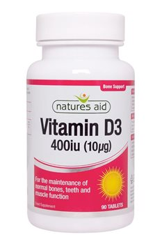 Natures Aid Vitamin D3 400iu  - Click to view a larger image