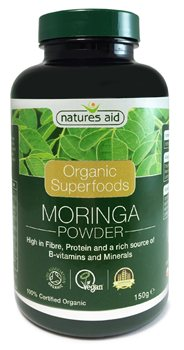 Natures Aid Organic Moringa Powder  - Click to view a larger image