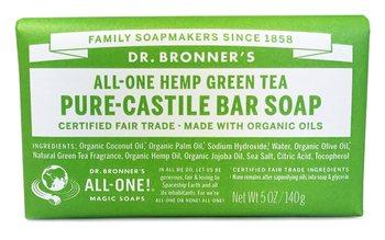 Dr Bronner's Green Tea Castile Soap Bar