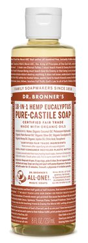 Dr Bronner's Eucalyptus Castile Liquid Soap  - Click to view a larger image