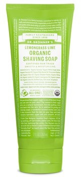 Dr Bronner's Lemongrass Lime Organic Shaving Soap  - Click to view a larger image