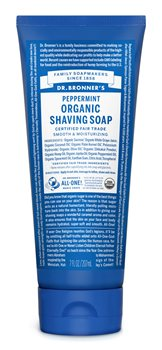 Dr Bronner's Peppermint Organic Shaving Soap  - Click to view a larger image