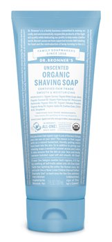 Dr Bronner's Unscented Organic Shaving Soap  - Click to view a larger image