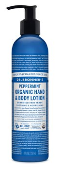 Dr Bronner's Peppermint Organic Hand & Body Lotion  - Click to view a larger image