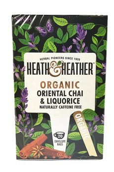 Heath & Heather Organic Oriental Chai & Liquorice  - Click to view a larger image