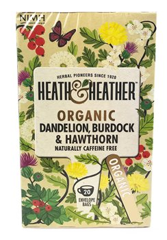 Heath & Heather Organic Dandelion Burdock & Hawthorn  - Click to view a larger image