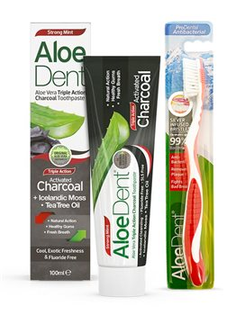 Aloe Dent Activated Charcoal Toothpaste  - Click to view a larger image