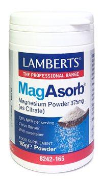 Lamberts MagAsorb Magnesium Powder 375mg  - Click to view a larger image