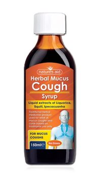 Natures Aid Herbal Mucus Cough Syrup  - Click to view a larger image