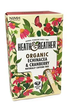 Heath & Heather Organic Echinacea & Cranberry  - Click to view a larger image