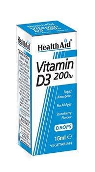 Health Aid Vitamin D 200iu Drops  - Click to view a larger image