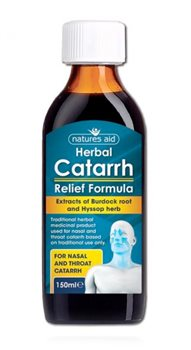 Natures Aid Herbal Catarrh Relief Formula   - Click to view a larger image