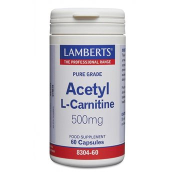 Lamberts Acetyl L-Carnitine 500mg  - Click to view a larger image