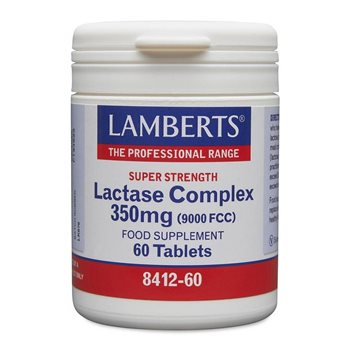 Lamberts Lactase Complex 350mg Super Strength  - Click to view a larger image