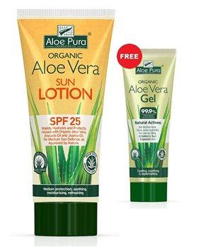 Aloe Pura Aloe Vera Sun Lotion SPF 25 + FREE ALOE VERA GEL 100ML