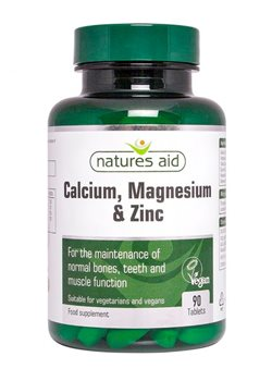 Natures Aid Calcium, Magnesium & Zinc  - Click to view a larger image