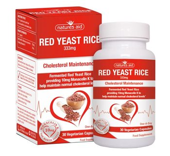 Natures Aid Red Yeast Rice 333mg  - Click to view a larger image