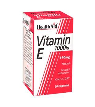Health Aid Vitamin E 1000iu  - Click to view a larger image