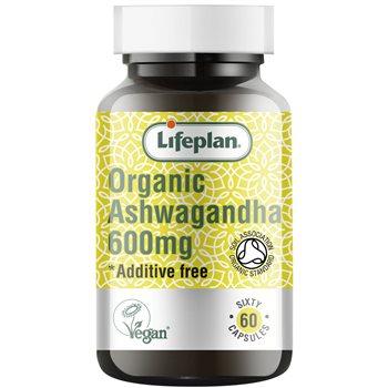 Lifeplan Organic Ashwagandha 600mg  - Click to view a larger image