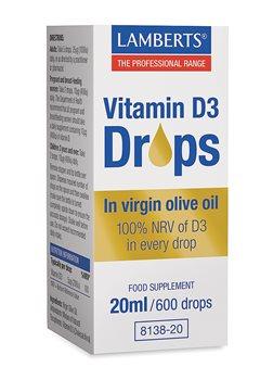 Lamberts Vitamin D3 Drops  - Click to view a larger image