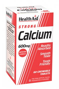 Health Aid Strong Calcium 600mg Chewable   - Click to view a larger image