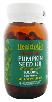 Health Aid Pumpkin Oil 1000mg  - Click to view a larger image