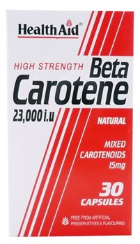 Health Aid Beta Carotene Caps (15mg)  - Click to view a larger image