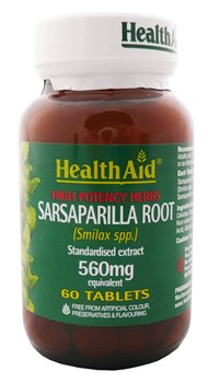 Health Aid Sarsaparilla Root 560mg  - Click to view a larger image