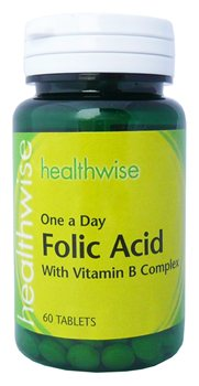 Healthwise folic acid complex 400ug for Healthwise fish oil