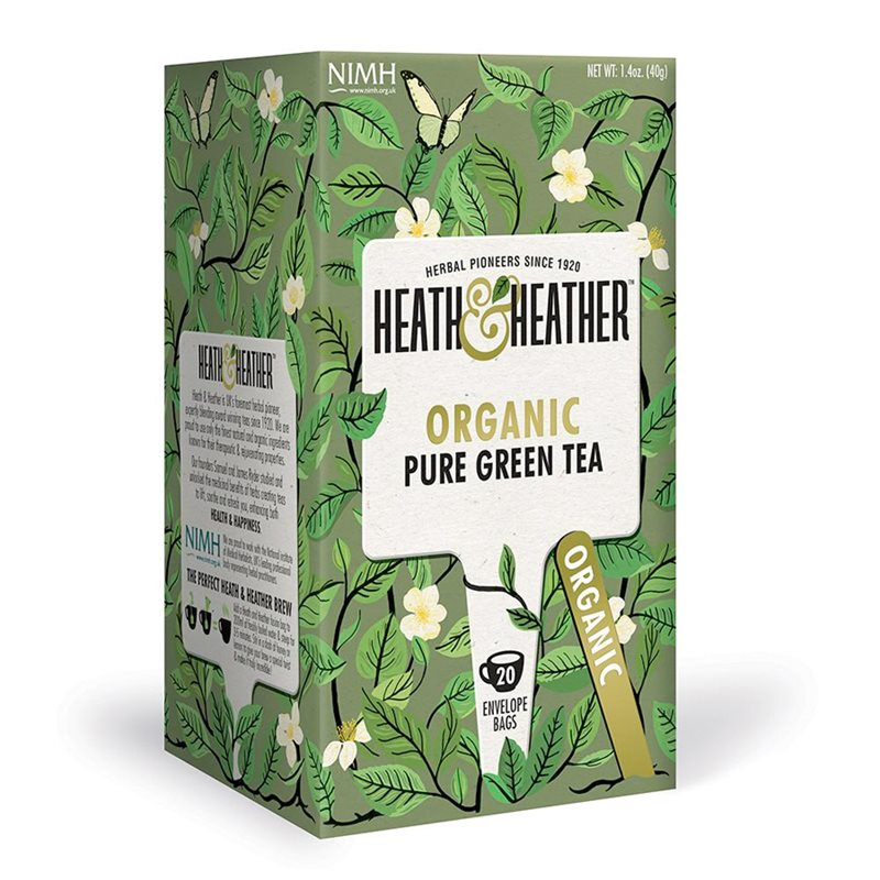 Heath & Heather Organic Pure Green Tea 1